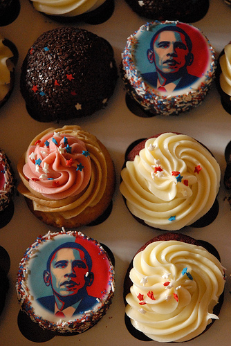 Me and Disko.com Obama cake
